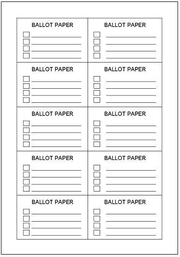 photograph about Printable Voting Ballot Template named Voting ballot Artofit