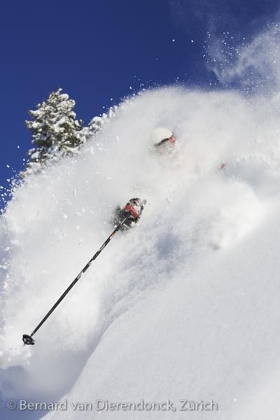 Deep Powder Lech Austria Image By Bernard Van Dierendonck North Face Steep Tech Powder Skiing Skiing