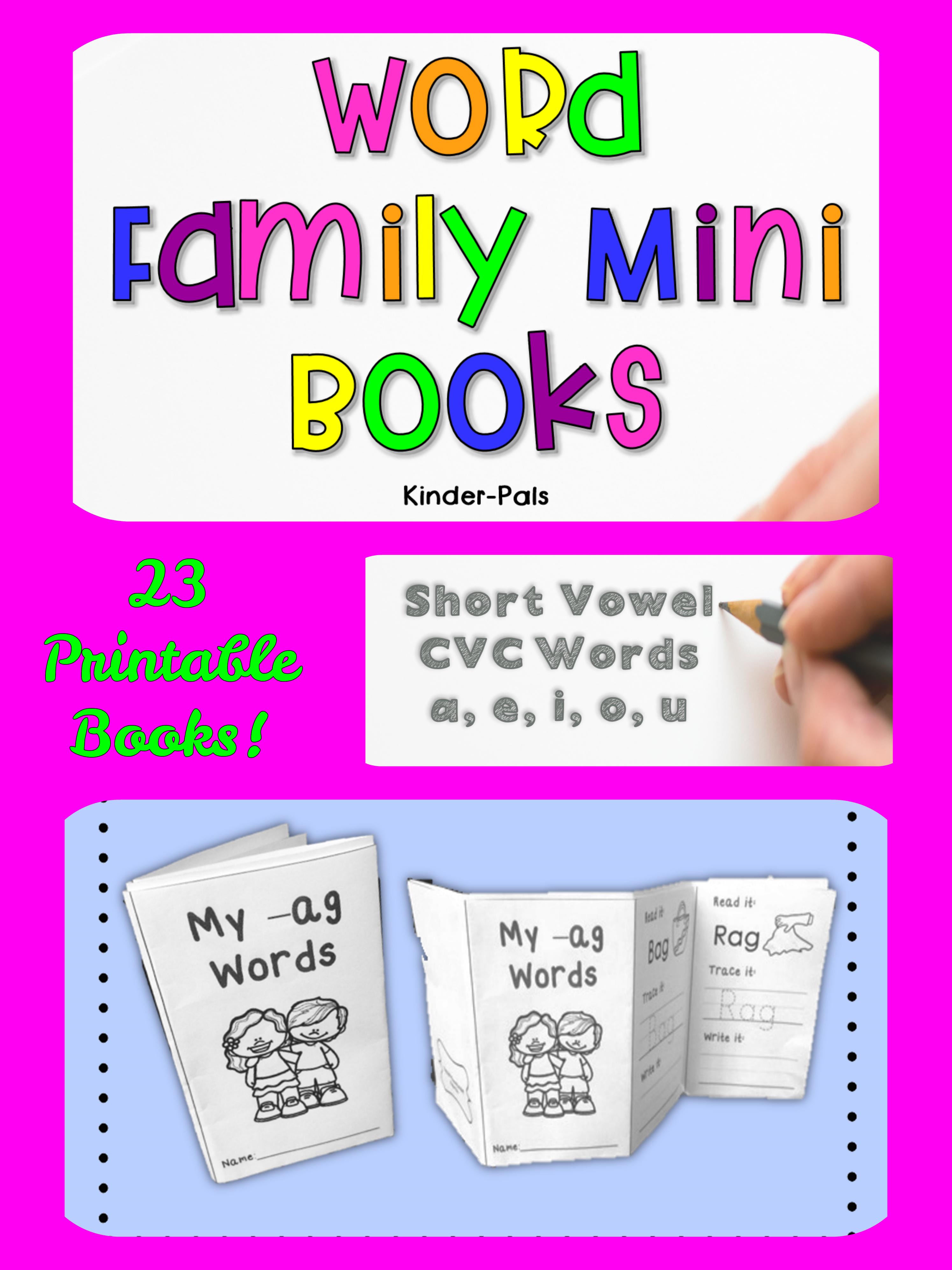Kindergarten Cvc Word Printable Books - Clipart Library •