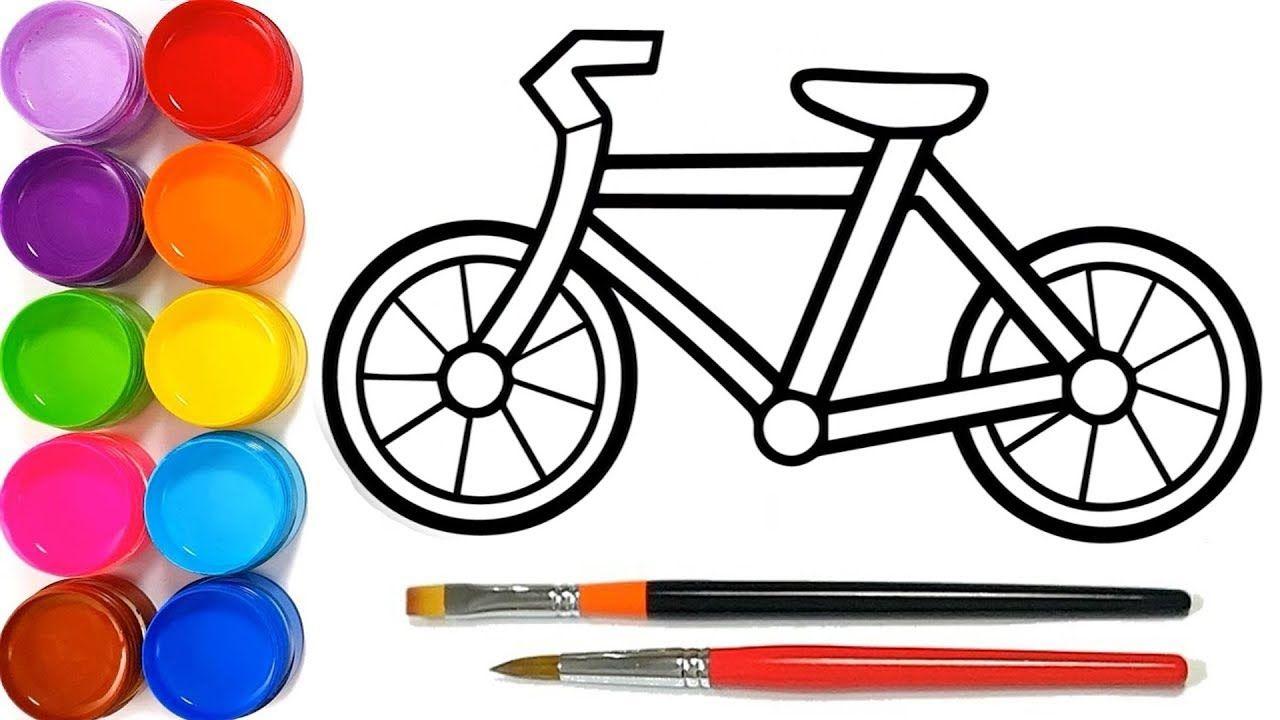 Zeichnen Und Farben Fahrrad Fahrrad Zeichnen Wir Lernen Die