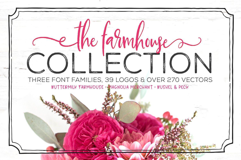 The Farmhouse Collection Bundle Farmhouse font, How to