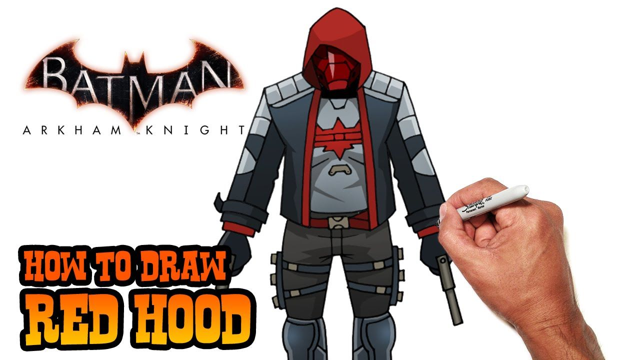 How to Draw Red Hood (Arkham Knight) Step by Step Red