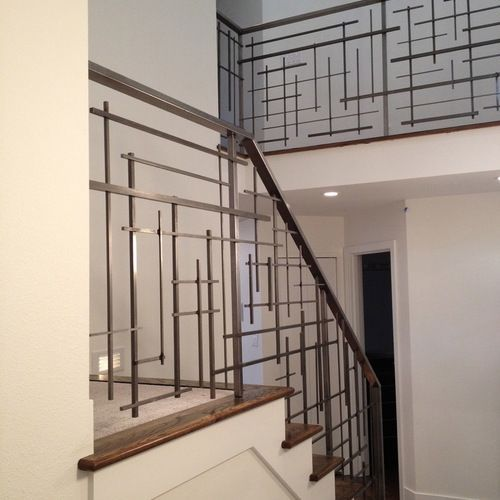 40 Trending Modern Staircase Design Ideas And Stair Handrails: Stair Railing Design, Modern Stair Railing