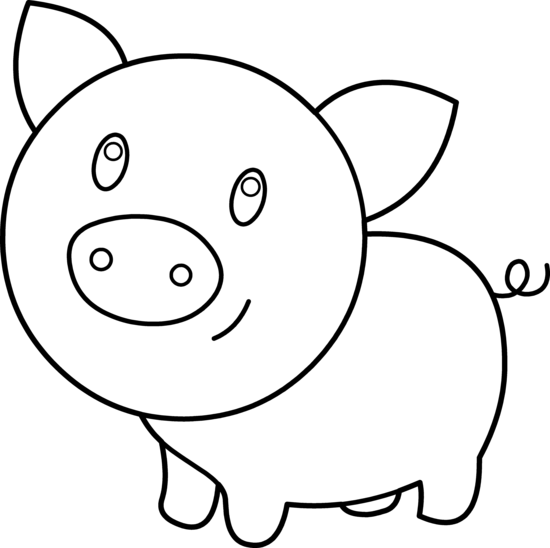 Pig Clipart By Hallow Graphics Peppa Pig Coloring Pages Bird Coloring Pages Animal Coloring Pages