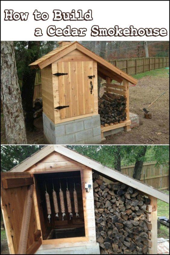 How to build a cedar smokehouse in 2020 | Smokehouse ...