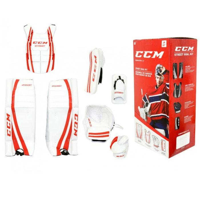 Street Hockey Målvaktsutrustning från välkända CCM med proffsigt  tillverkade benskydd 9ebb984f693b6
