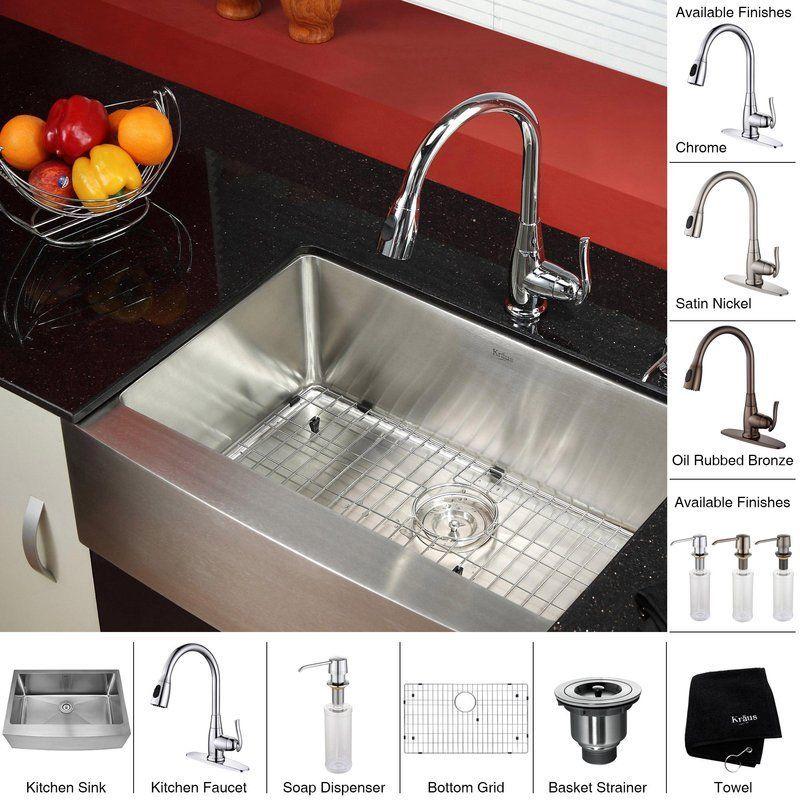 Kraus Khf200 30 Kpf2230 Ksd30 Farmhouse Sink Kitchen Sink Stainless Steel Kitchen