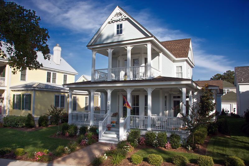 Seaside victorian style cottages tidewater arts crafts for Tidewater style homes