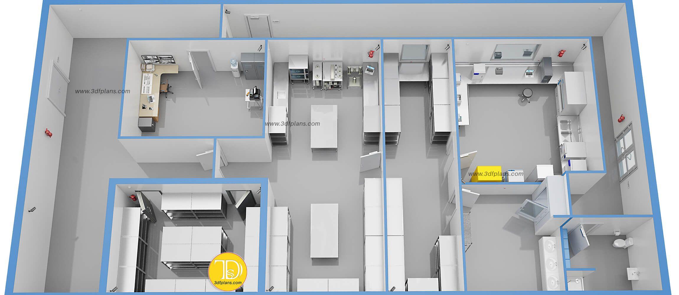 Laboratory Greenhouse 3d Floor Plans 3d Floor Plans In 2020 Floor Plan Design Floor Plans Laboratory Design