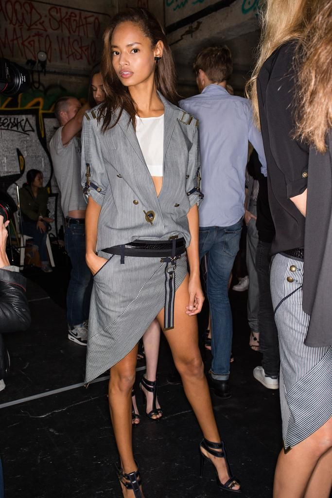 Backstage at Anthony Vaccarello S/S 2015 www.redreidinghood.com
