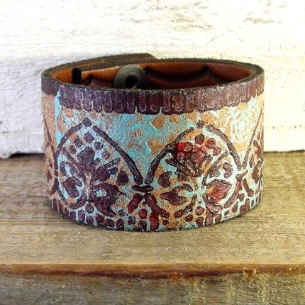 repurpose, recycle, reuse - bracelets out of old belts.