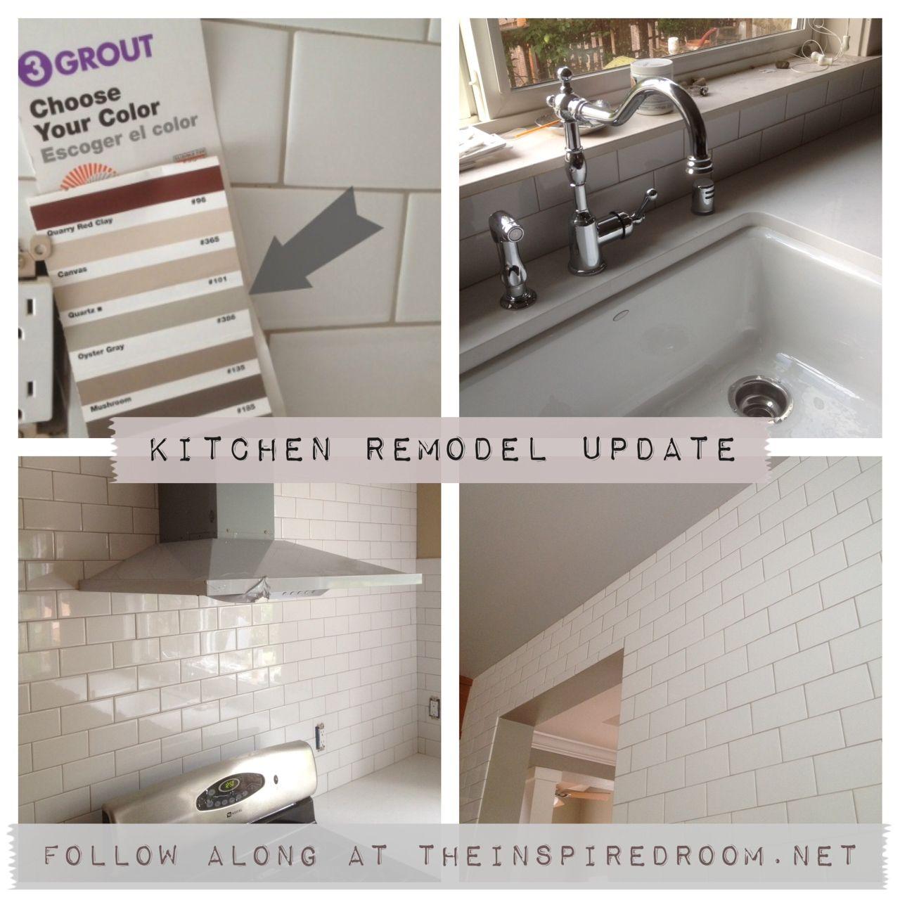 Subway Tile Grout Oyster Gray White Subway Tile Kitchen Kitchen
