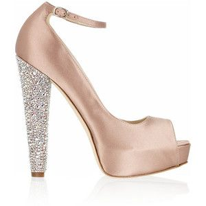 Brian Atwood - Martina Embellished Satin Pumps in pink (blus ...