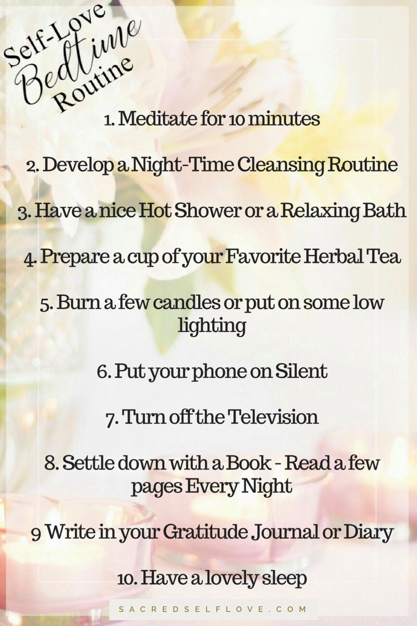 Self Love Bedtime Routine Getting A Good Night S Sleep Is Vital Not Only Does