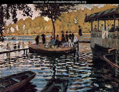 La Grenouillere - Claude Oscar Monet - www.claudemonetgallery.org