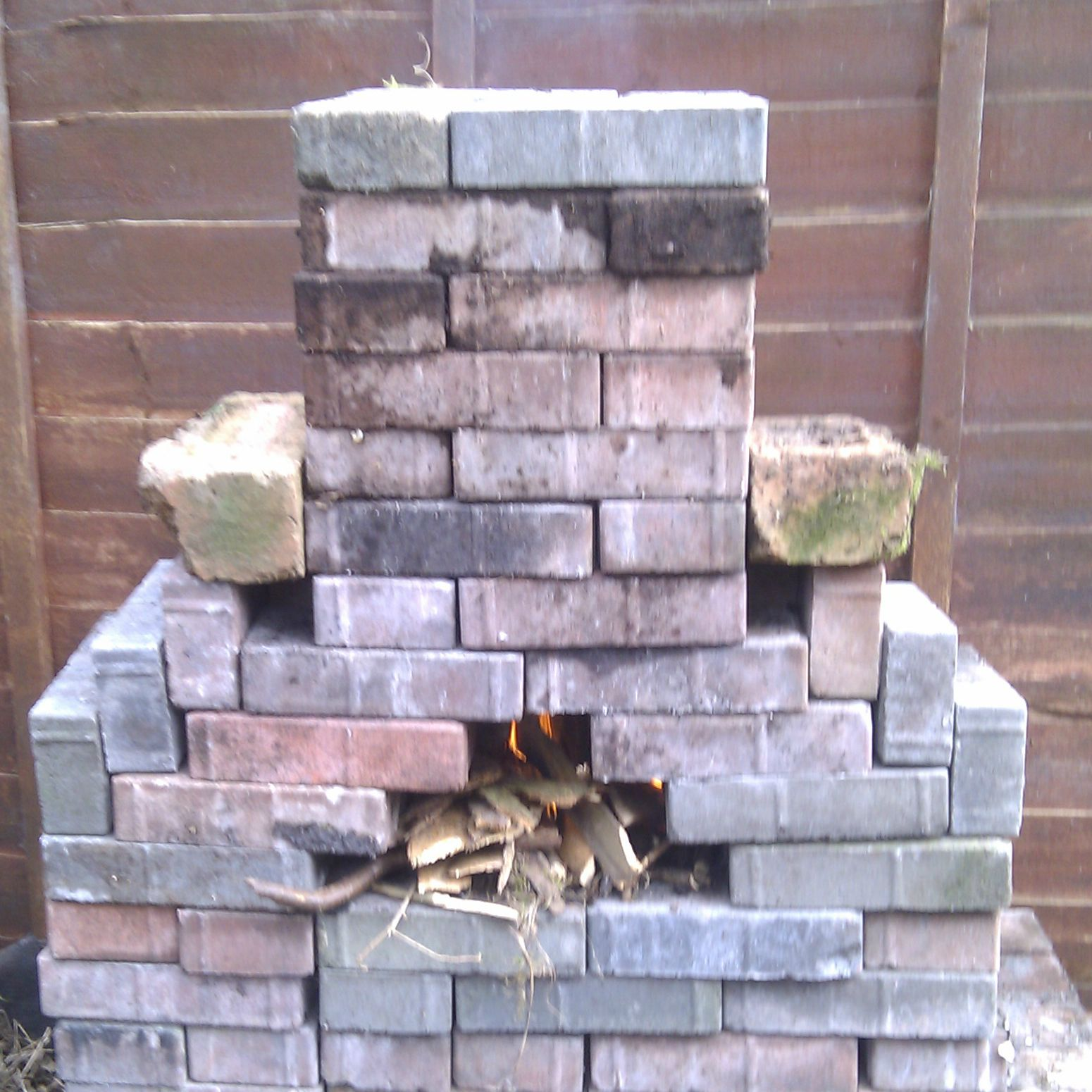 Brick Chiminea 0 1 It Works Too Lego For Grown Ups Version 0 2 Soon With Higher Burning Area Brick Crafts Chiminea Brick