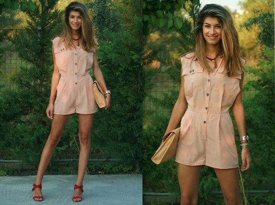 The Blossom Girls: Nude Jumpsuit (by Savina Velivanaki) http://lookbook.nu/look/3909314-The-Blossom-Girls-Nude-Jumpsuit