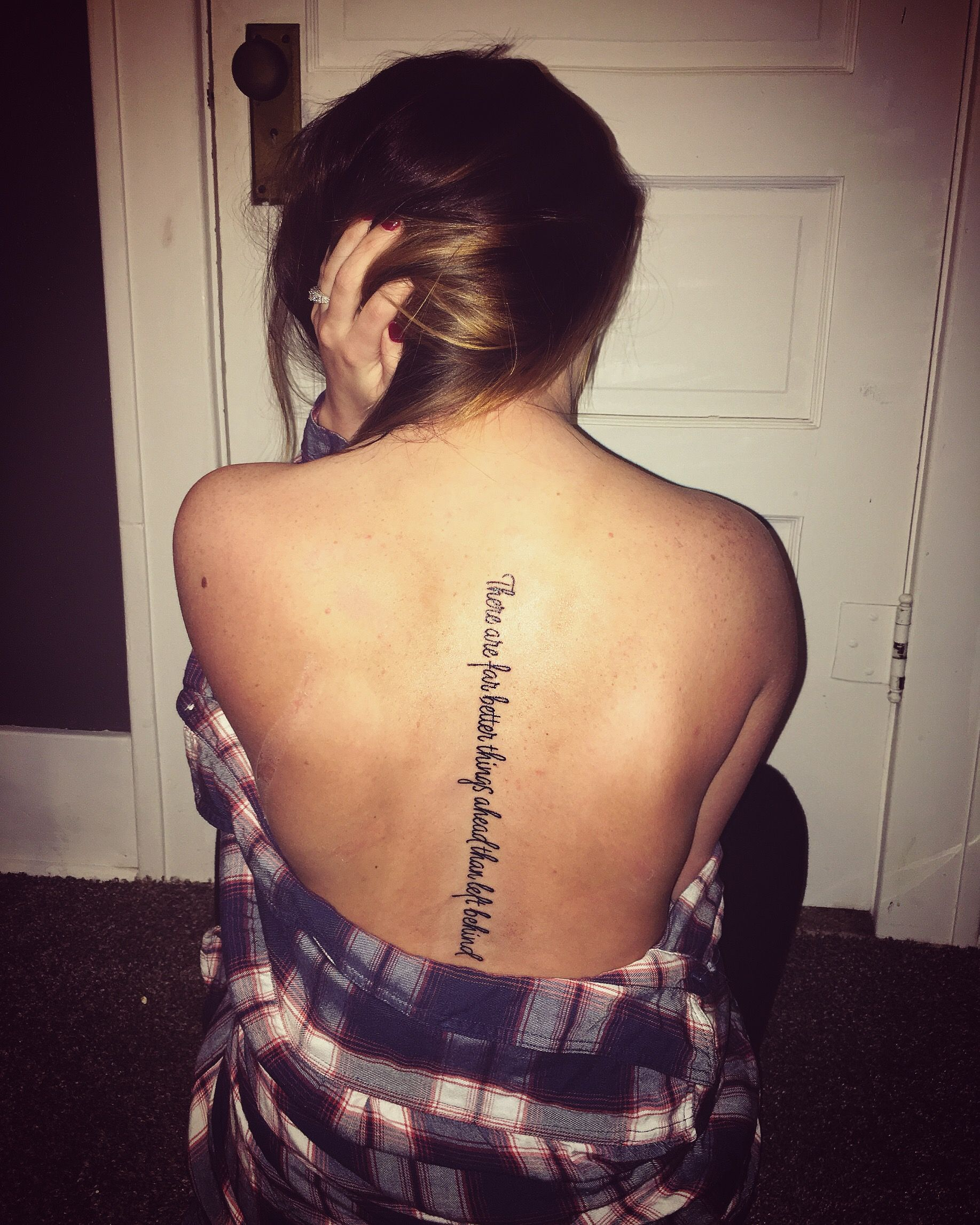 Spine quote tattoo tattoo pinterest for Spine tattoo quotes