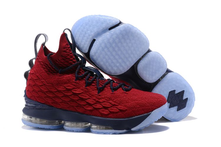 buy online 39e77 a5d1d ike LeBron James 15 Burgundy Navy Blue shoes
