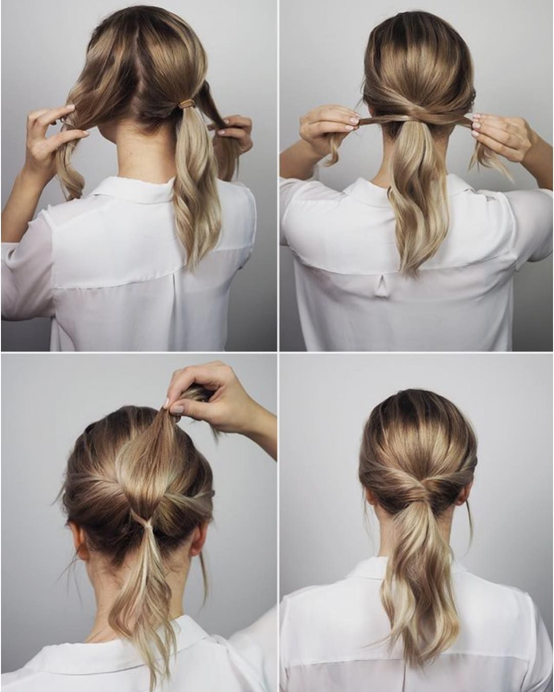 10 Easy Hairstyles For Long Hair To Do At Home Step By Step Hey Cinderella Office Hairstyles Medium Hair Styles Work Hairstyles