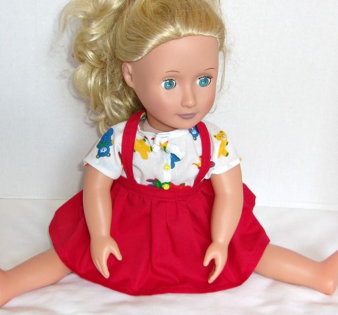 1956 Style Blouse and Skirt for AG and OG Type 18 inch Dolls by CreatedbyLee, $13.59 USD