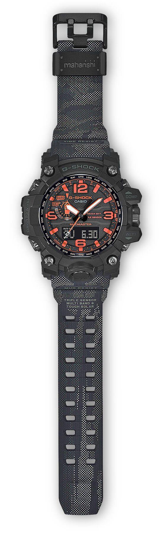 Maharishi X G Shock Mudmaster Gwg 1000mh 1a Casio Watches Original Ga 100 1a4 Jam Tangan Pria Resin Black