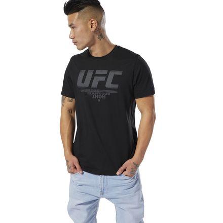 Reebok UFC Mens Red Fan Gear Official Logo T-Shirt