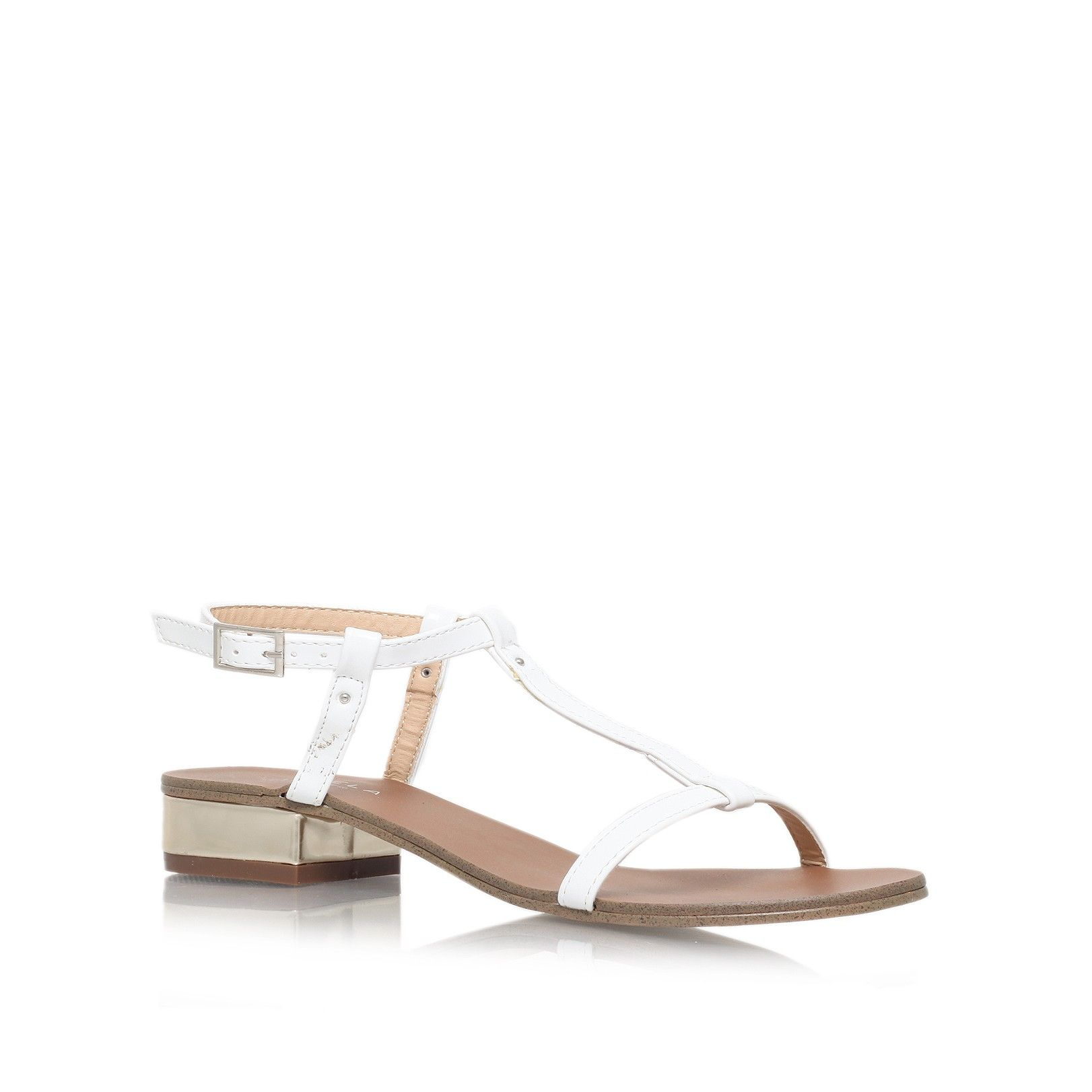 c27f34ba77e bounty white low heel sandals from Carvela Kurt Geiger