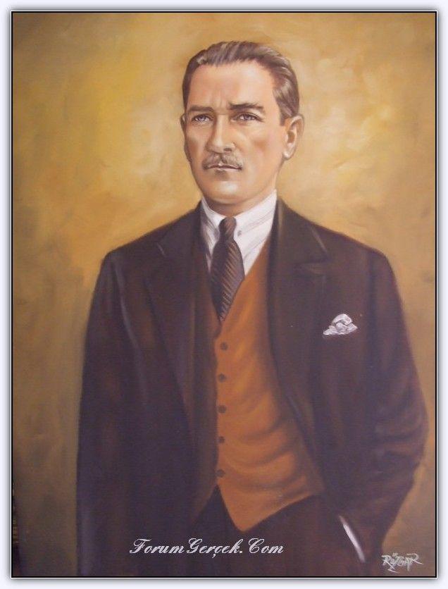 Ataturk Un Yagli Boya Tablolari Forum Gercek Gercekler Tablolar Portre