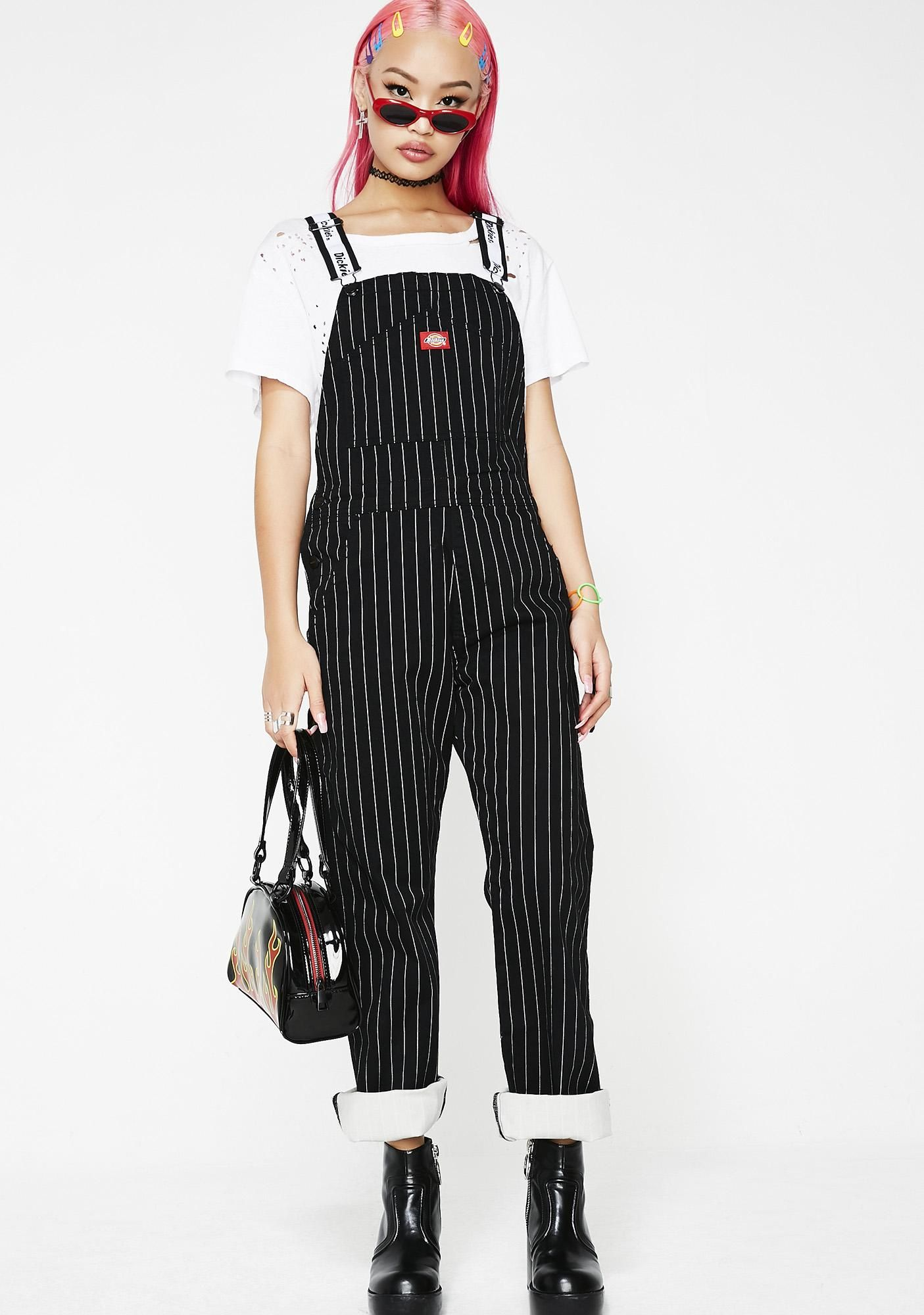 dickies girl pinstripe overalls overalls pinstripe fashion on dickies coveralls id=30365