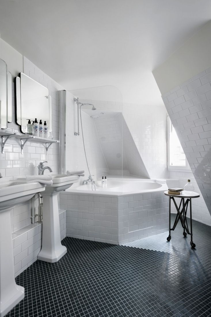 Hotel Panache - An Affordable Design Hotel In Paris | White tiles ...