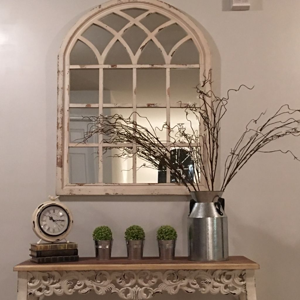 Mirror and table are from Kirklands! And all of the