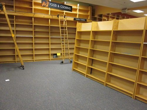 Image result for empty shelves at bookstore