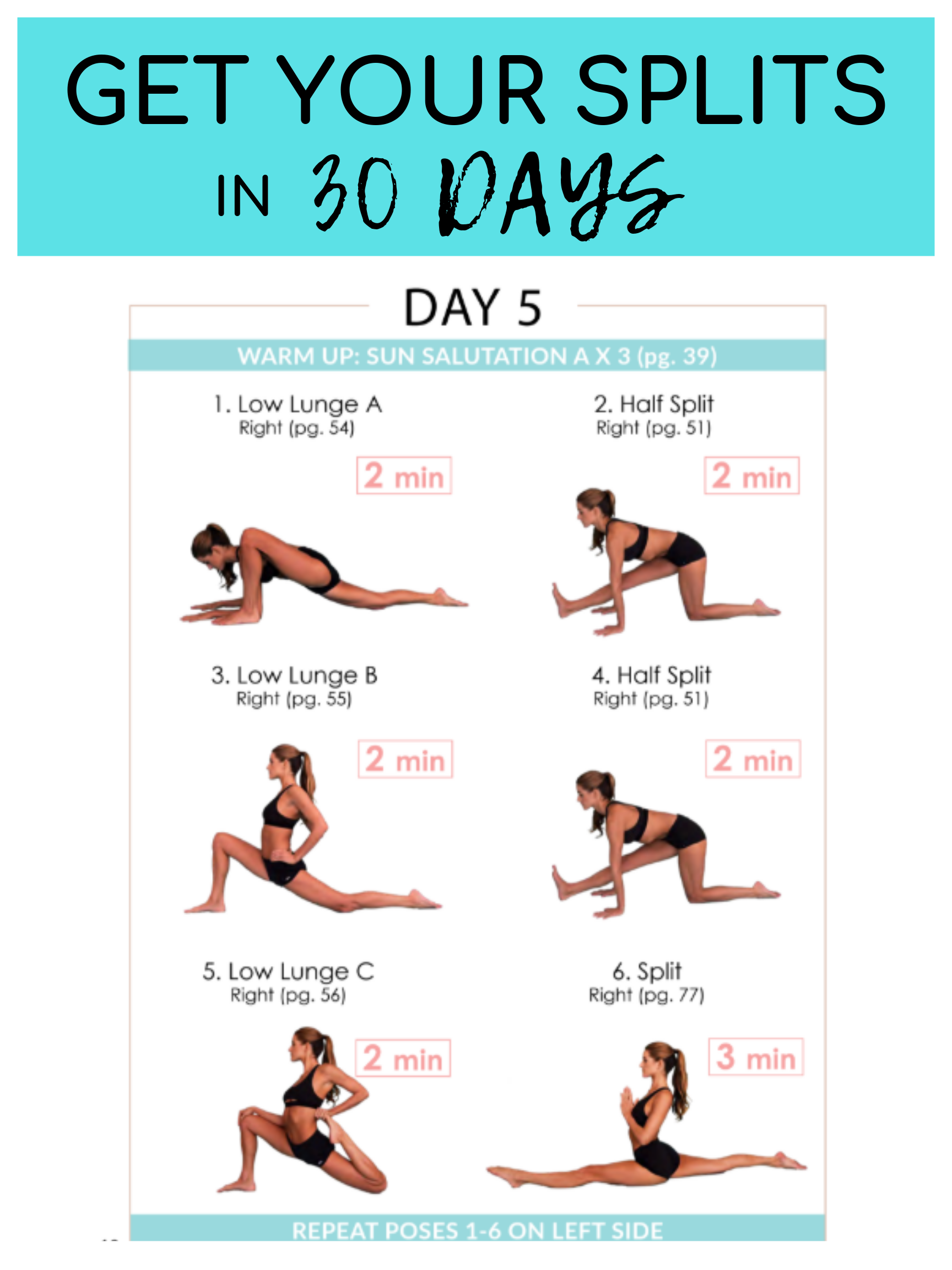 30 Day Split Guide that WORKS