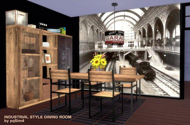 Sims 4. Industrial Style Dining Room.   Estilo industrial ...