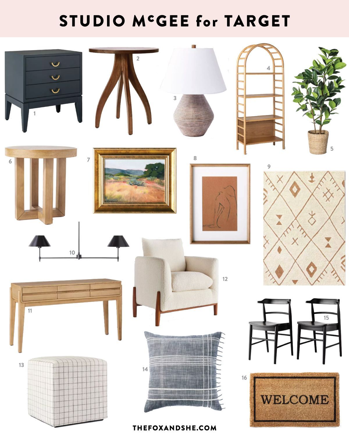 Studio McGee for Target: What's on My List - The Fox