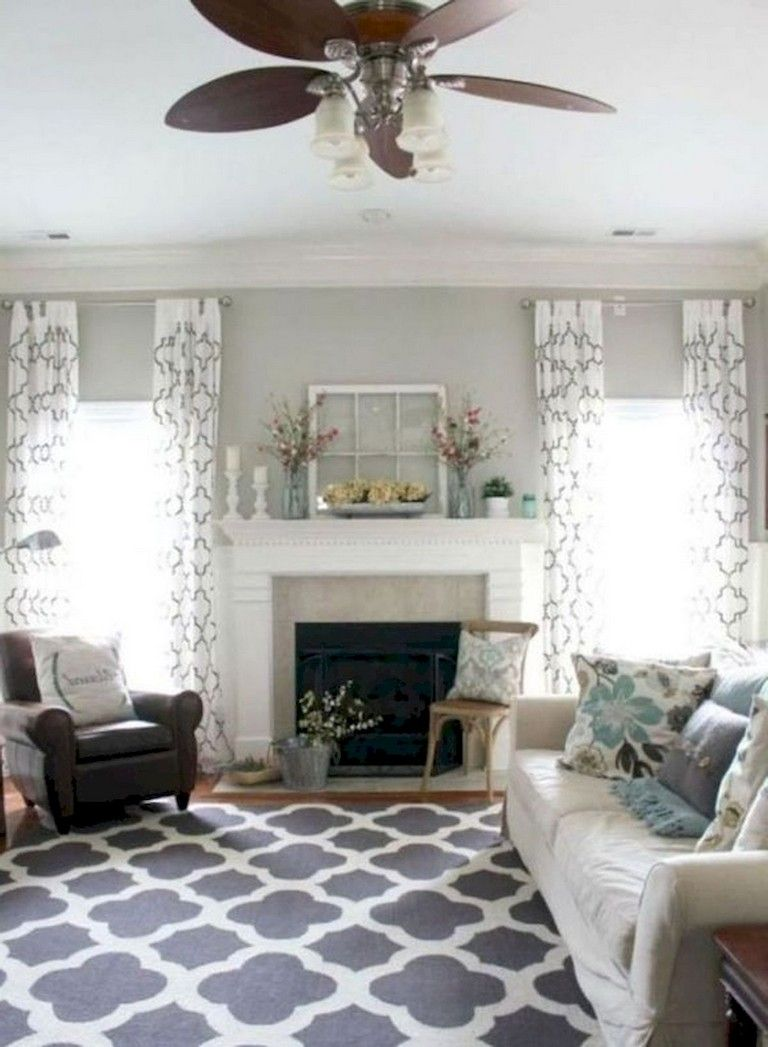 45+ Comfy Modern Farmhouse Living Room Curtains Ideas ... on Farmhouse Curtain Ideas For Living Room  id=13132