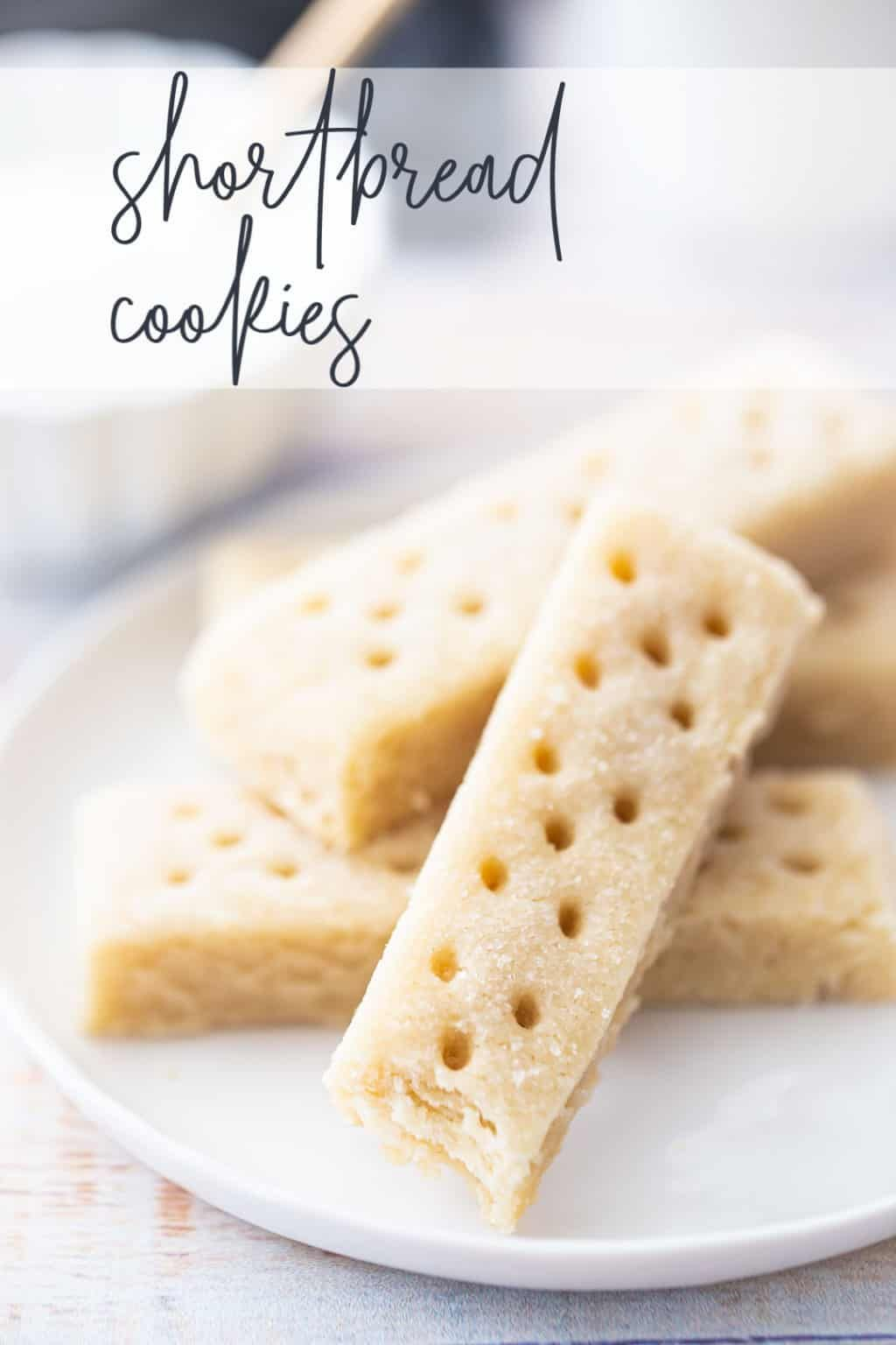 Classic Shortbread Cookies: These are so buttery and tender they practically melt in your mouth! And easy to make too, with just 5 simple ingredients. #shortbread #cookies #christmas #buttery #easy #scottish #meltinyourmouth #recipe #best #classic #glutenfree #soft #holiday #cutout #vanilla #traditional #rolled #oldfashioned #stamped #simple #sliceandbake #lemon #almond #pecan #withjam #lavender ##rosemary #brownsugar #pistachio #earlgrey #coffee #dipped #orange #cinnamon #ginger #walnut #lime #