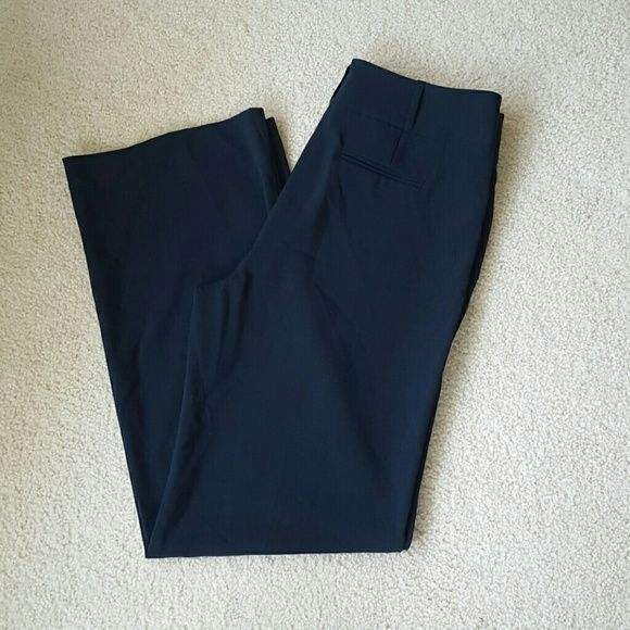 Chico's Navy Blue Size 2 These are a beautiful pair of Chico's size 2 navy blue pants. They are wide legs. 60% polyester. 35% rayon. 5% spandex. Inseam is 33 inches. Chico's Pants Wide Leg