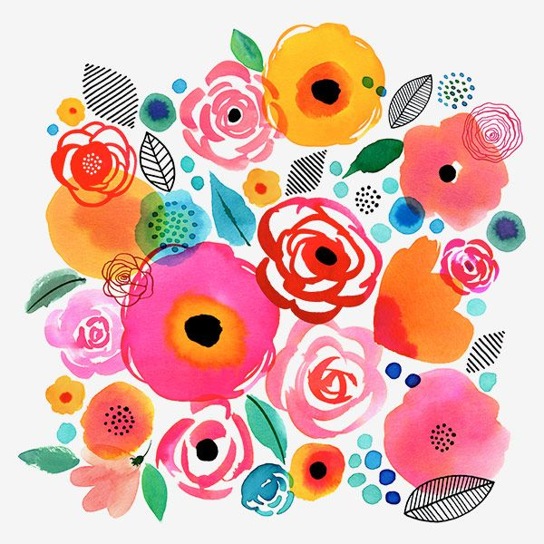 Margaret Berg Art Illustration Florals Spring Art Ideas