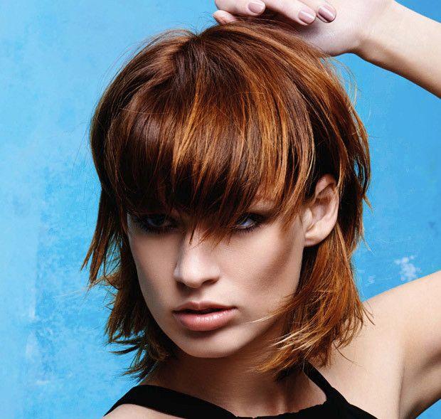 Tagli capelli lisci rossi