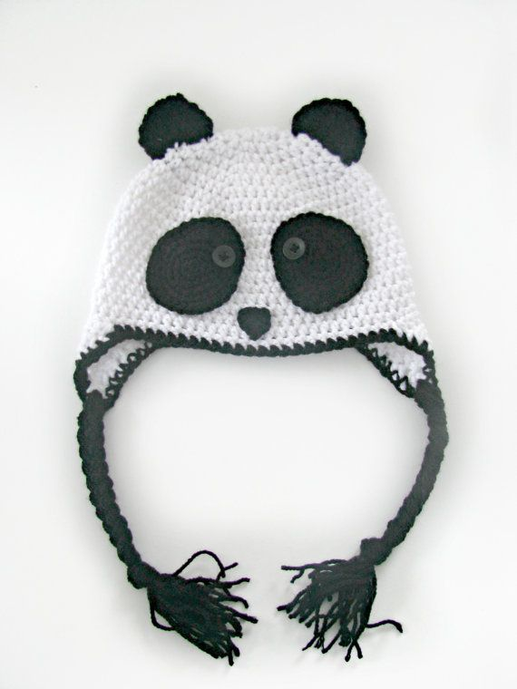 Crochet Panda Hat Made to Order by SummerGemBoutique on Etsy, $20.00 ...