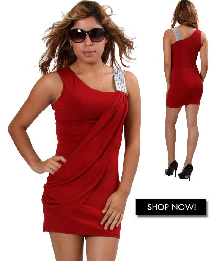 look hot in this red dress $9.75