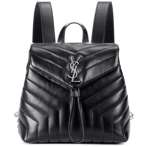 Loulou Medium Quilted Leather Backpack - Black Saint Laurent