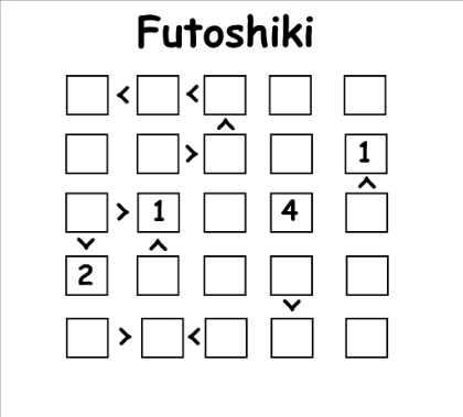 Futoshiki Puzzle - Same rules as Sudoku but you have to