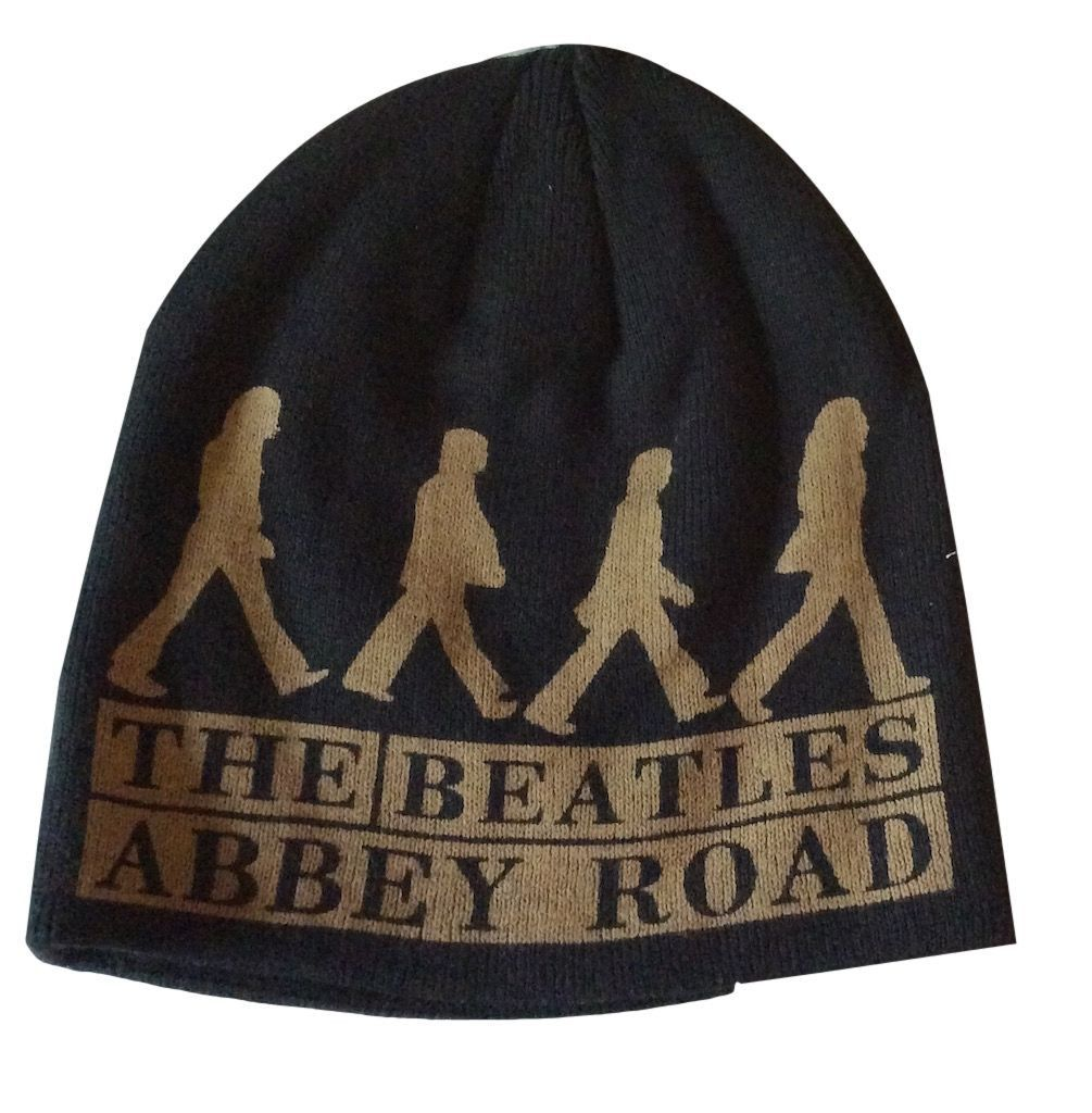 The Beatles Abbey Road Logo Double Sided Beanie Knit Hat