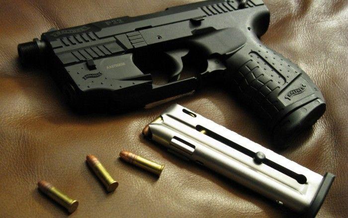 Walther P22, bullet, close-up, gun, military, p22, pistol