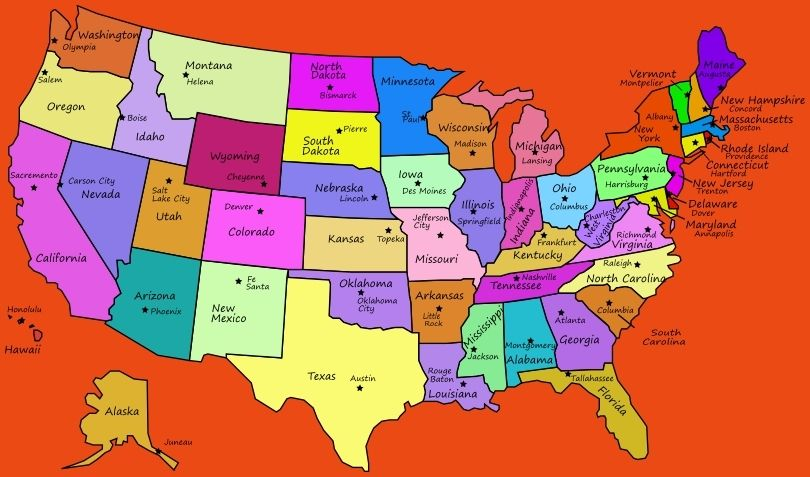 State Map With Capitals us map states and capitals picture ...
