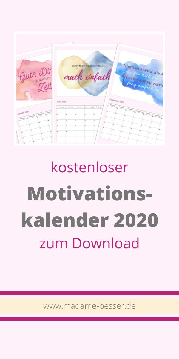 Kalender zur Organisation der Ernährung