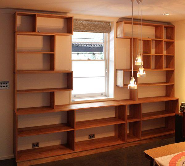 Custom Made Timber Bookshelves Sydney